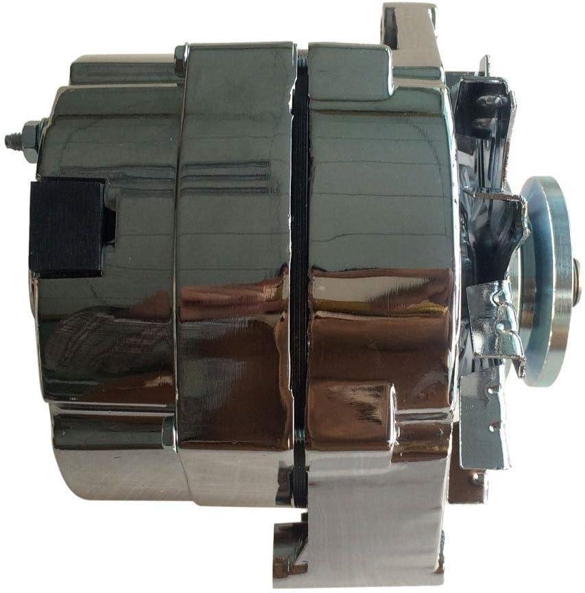 1985 chevy alternator wiring amazon com roadstar 7127 105c 1975 1985 chrome alternator fits  roadstar 7127 105c 1975 1985 chrome