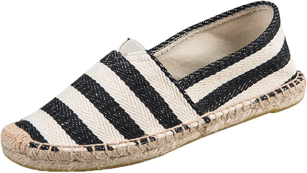 Scarpe di Tela Unisex Tempo Libero Scarpe Basse Loafers Manuale Corda di Canapa Suole Colore della Caramella Totem Striscia Lovers Scarpe