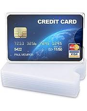 kwmobile 10x Funda Protectora Tarjeta de crédito y débito - Cubierta de protección para Tarjetas - Tarjetero Individual de Color Transparente Mate