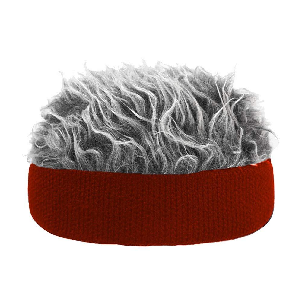 MacRoog Novelty Hair Visor Sun Cap Wig Peaked Adjustable Baseball Hat with Fake Hairs Toupee Funny Hair Snapback Hats