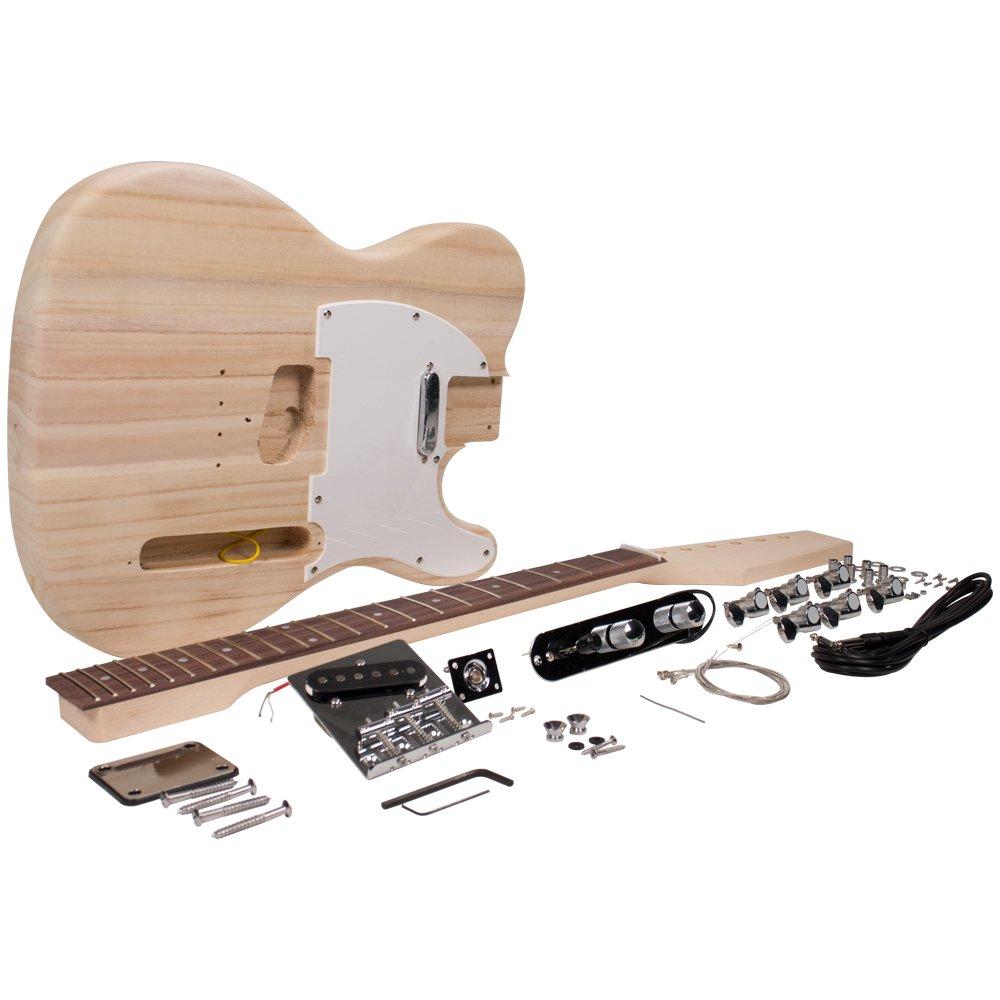 Seismic Audio - sadiyg-02 - PREMIUM tele estilo DIY - Kit de guitarra eléctrica sin terminar Kit de proyecto de Luthier: Amazon.es: Instrumentos musicales