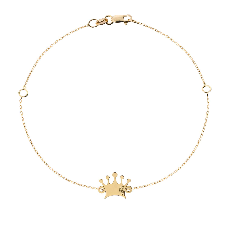 selezione premium b3ae6 0c015 kidult My Charm Bracelet Woman ORO18 KT Ref Obr26 Crown ...