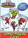 Marvel Super Hero Adventures–Jumbo Playing Cards–クラシックカードゲームラミー、Go魚の、スナップ、クレイジー8and More 。の商品画像
