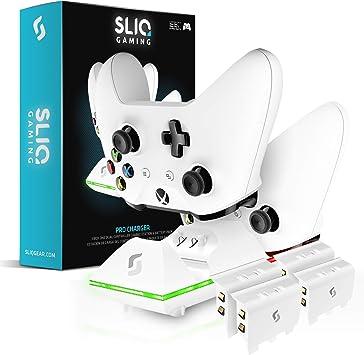 Sliq Gaming Xbox One - Estación de Carga para Xbox One y Quad Battery Pack Edition (Incluye 4 baterías Recargables), Color Blanco: Amazon.es: Electrónica