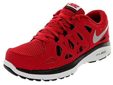 f3b3c00a8ab7 Nike Kids Dual Fusion Run 2 (GS) Gym Red Mtllc Silver Blk White Running Shoe  4. 5 Kids US  Buy Online at Low Prices in India - Amazon.in