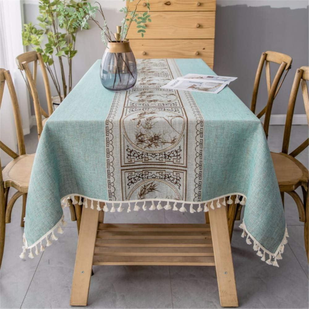 SONGHJ Ropa de algodón Simple Impermeable Borla Decorativa Mantel ...