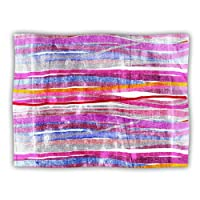 "Kess InHouse Frederic Levy-Hadida ""Fancy Stripes Pink"" Pet Blanket, 40 by 30-Inch"