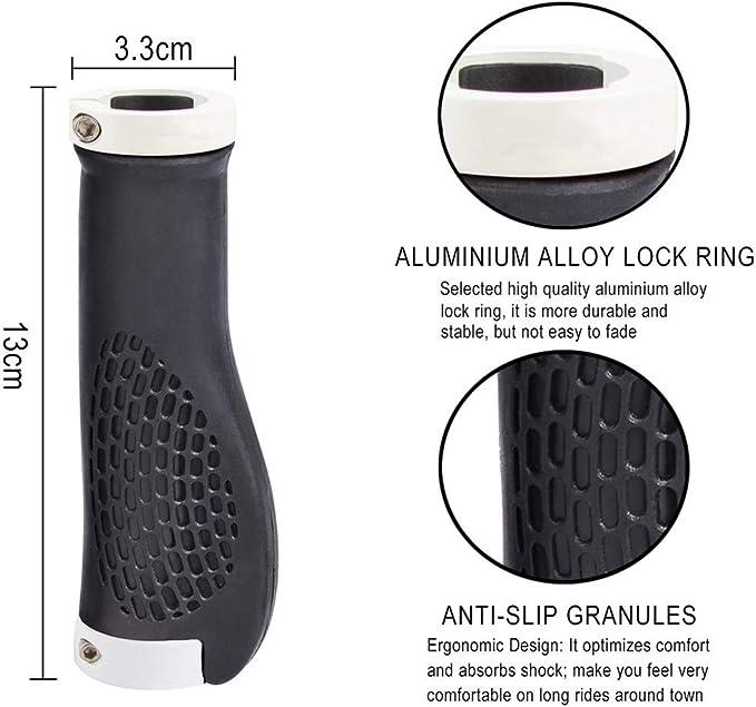 1 paire de poign/ées de guidon de v/élo antid/érapantes en aluminium