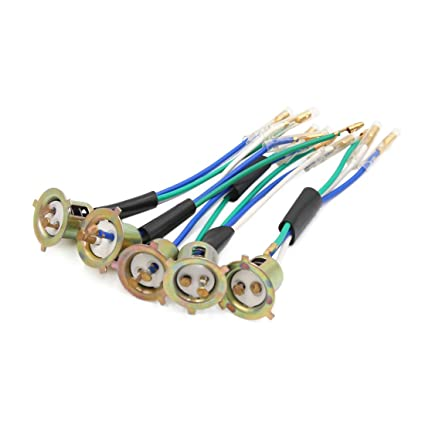 Amazon.com: uxcell 5Pcs Metal 3 Wires Harness Headlight Bulb Sockets on 3 wire wiring harness, 3 wire power connector, 3 pin connector, 3 hose connector, screw terminal connector, 3 terminal connector, 6 pin wire connector,