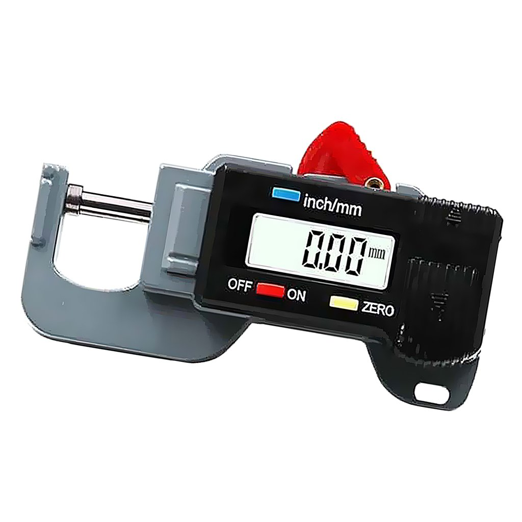 MagiDeal Digital Display 0-15mm Leather Thickness Metal Gauge Tester Measuring Tool 0752000230268ITA