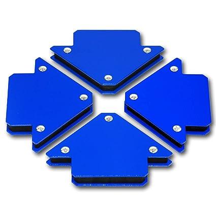 STAHLWERK - Escuadra magnética para soldar, 45° x 90° x 135°,