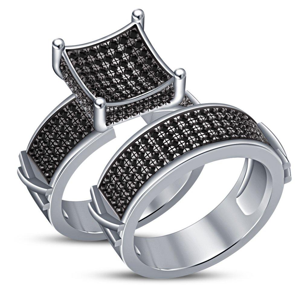 barato J 1 2 Vorra Fashion blancoo lujo lujo lujo chapado en platino RD Corte SIM diamante juego de novia anillo de la mujer  muchas concesiones
