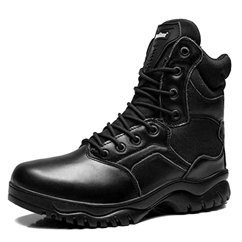 Botas Mens Impermeable Militar Ejército Tactical Training Boot Lace Ups/Side Zip Combat Boots Zapatos