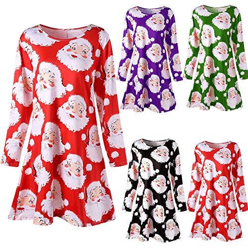 Accessoires Cintrée Robe Longue Rouge Femme Vetement Soirée Impression Fete Angelof De Longues Christmas Manches Chic TBnEzqWwx