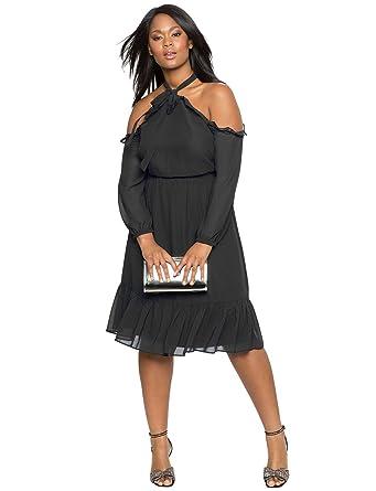Damen Kleid Neckholder Abendkleid Partykleid Elegant Schick ...