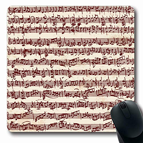 - LifeCO Computer Mousepad Classical Antique Handwritten Notes Clip Music Orchestration Old Symphony Folk Orchestra Organ Design Oblong Shape 7.9 x 9.5 Inches Oblong Gaming Non-Slip Rubber Mouse Pad Mat