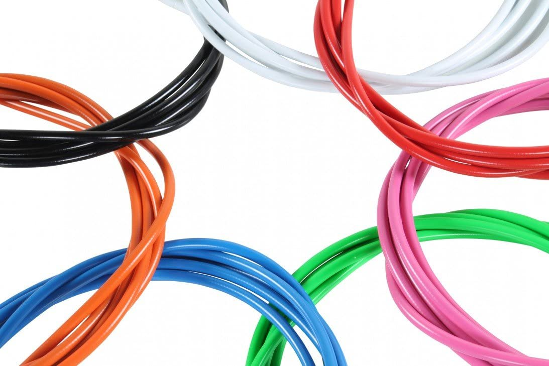 Coloured  4mm Derailleur Gear Cable Outer Housing 7 colours With Ferrules