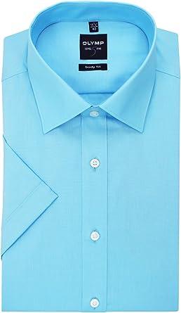 OLYMP Camisa Body Fit Color Azul Claro, Monótono Azul Claro 38: Amazon.es: Ropa y accesorios