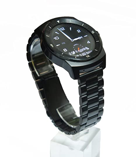 Amazon.com: @ccessory 22mm Black Stainless Steel Metal Watch ...