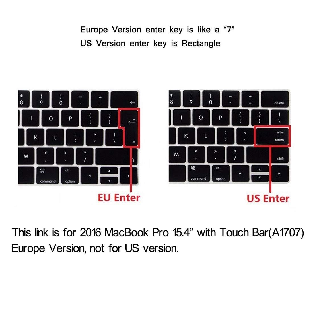 FGGKIMI Cover for 2016 MacBook Pro 15.4 Inch with Touch Bar (A1707),Hat-Prince 2 in 1 Crystal Hard Shell Plastic Protective Case + Europe Version Ultra-thin TPU Keyboard Protector Cover for 2016 MacBo by FGGKIMI (Image #9)