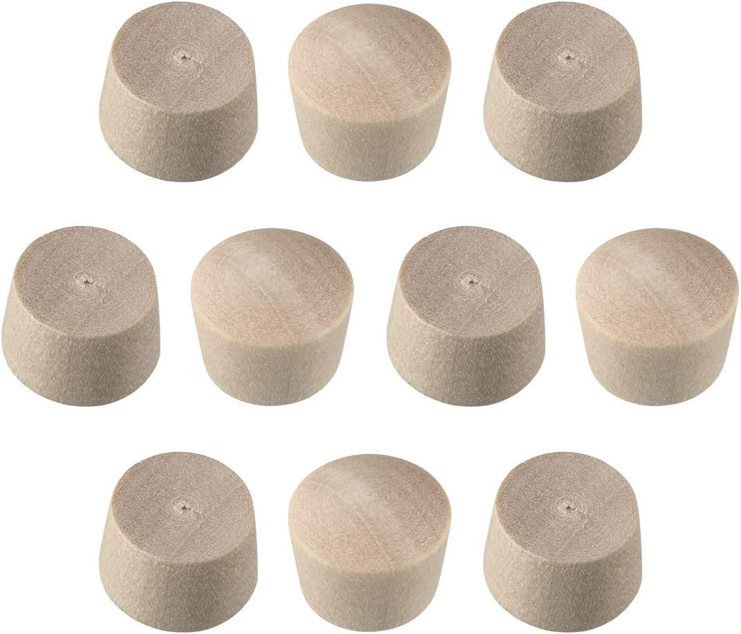 uxcell Wood Button Top Plugs 3/8 Inch Cherry Hardwood Furniture Plugs 9/25 Inch Height 50 Pcs