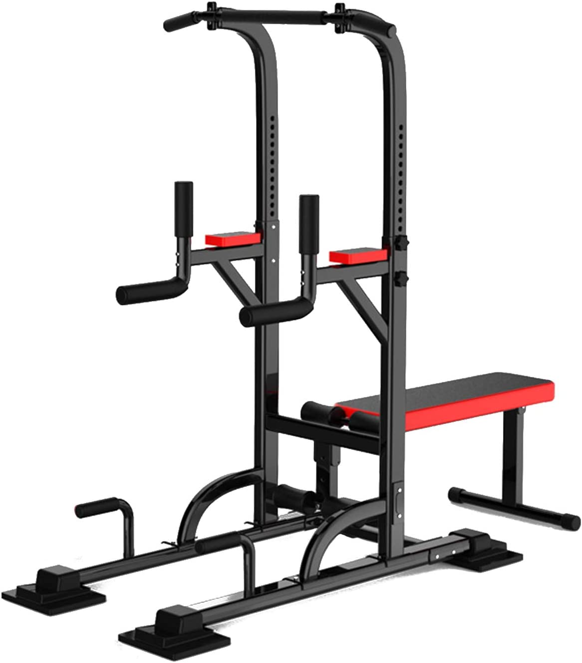 aiyu Multifunction Power Tower Pull Up Dip Station with Bench Home Gym Exercise Equipment, Adjustable Height Strength Training Heavy Duty Fitness Machines, Dip Stands, Pull Up Bars, Push Up Bars