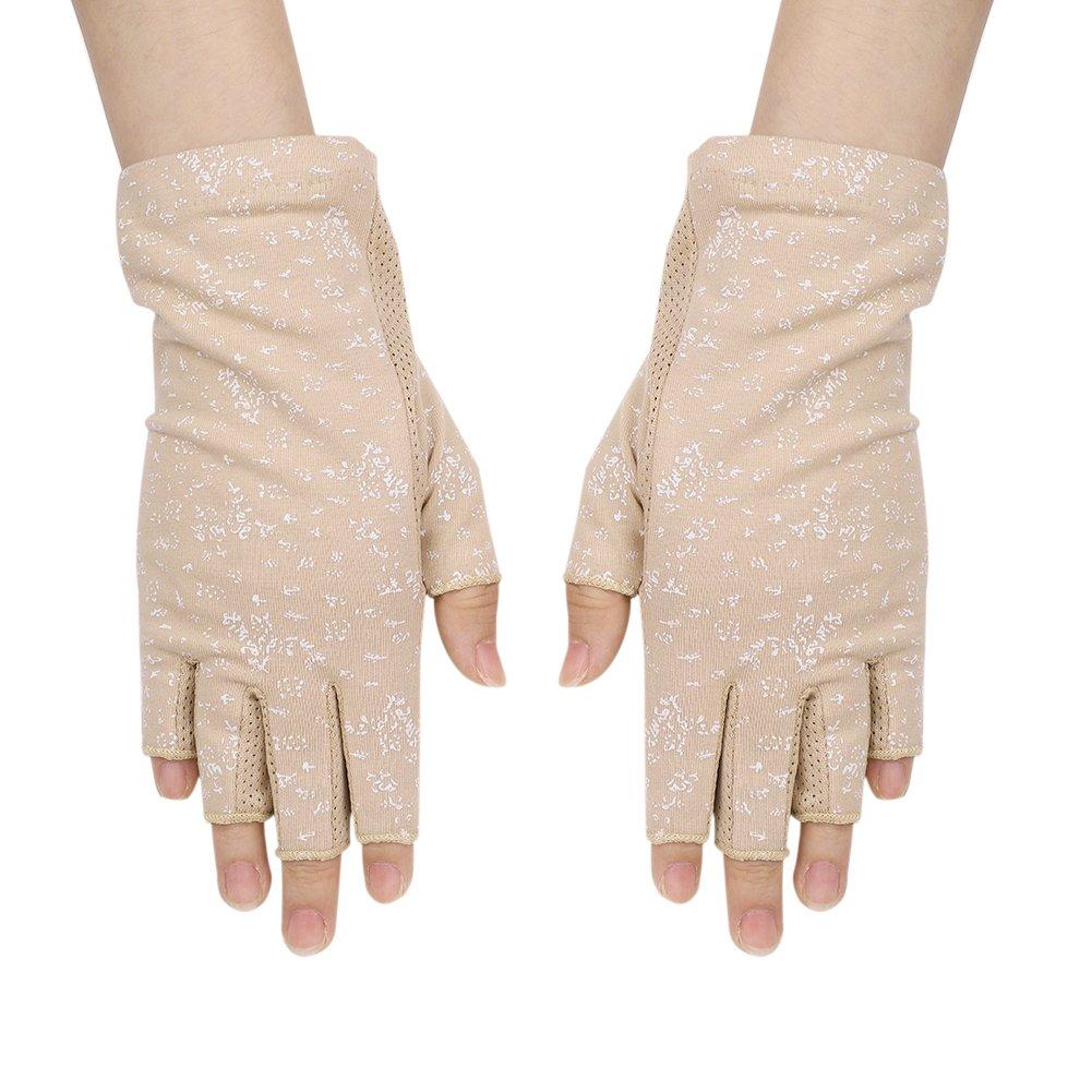 ed15a1a3ba7a7e Fingerhandschuhe Damen sonnencreme Radsporthandschuhe Dünn sommer Halbfinger  Fahrradhandschuhe rutschfeste Touchscreen Anti Handschuhe UV Baumwolle ...
