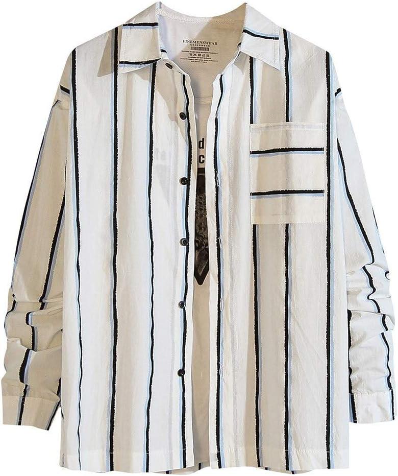 ZODOF camisa hombre camisas sport Nuevo Casual Comodo Moda A rayas Suelto Bolsillo Solapa Manga larga Camisa Tops Blusa Moda para hombre camisa lino hombre(XXXXL,Azul): Amazon.es: Instrumentos musicales