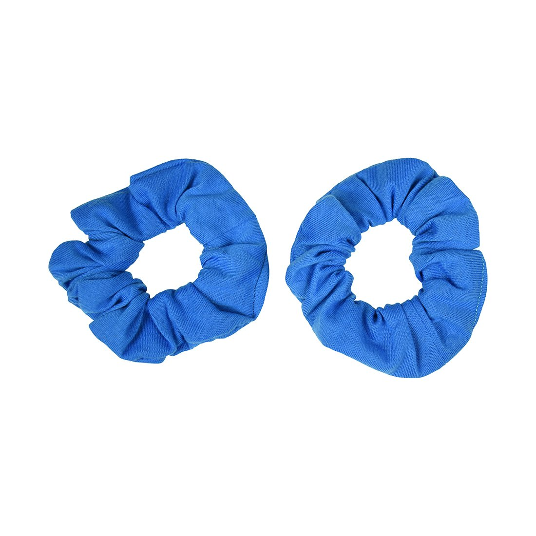 Set of 2 Solid Scrunchies - Blue