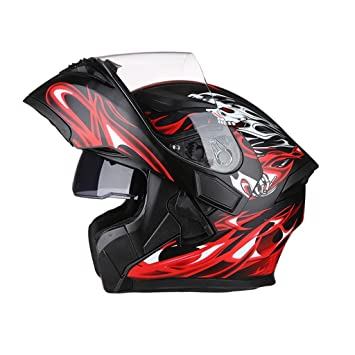Casco Casco de moto para hombres y mujeres Casco de careta antivaho Casco de cara completa