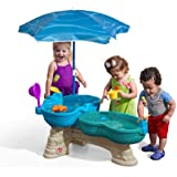 Step2 Spill & Splash Seaway Water Table | Kids Dual-Level Water Play Table with Umbrella & 11-Pc Accessory Set | Large Water