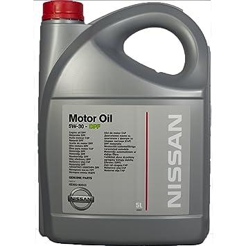 Genuina Nissan DPF 5W30 Aceite de 5 Litros Todo Motores Diesel.: Amazon.es: Coche y moto