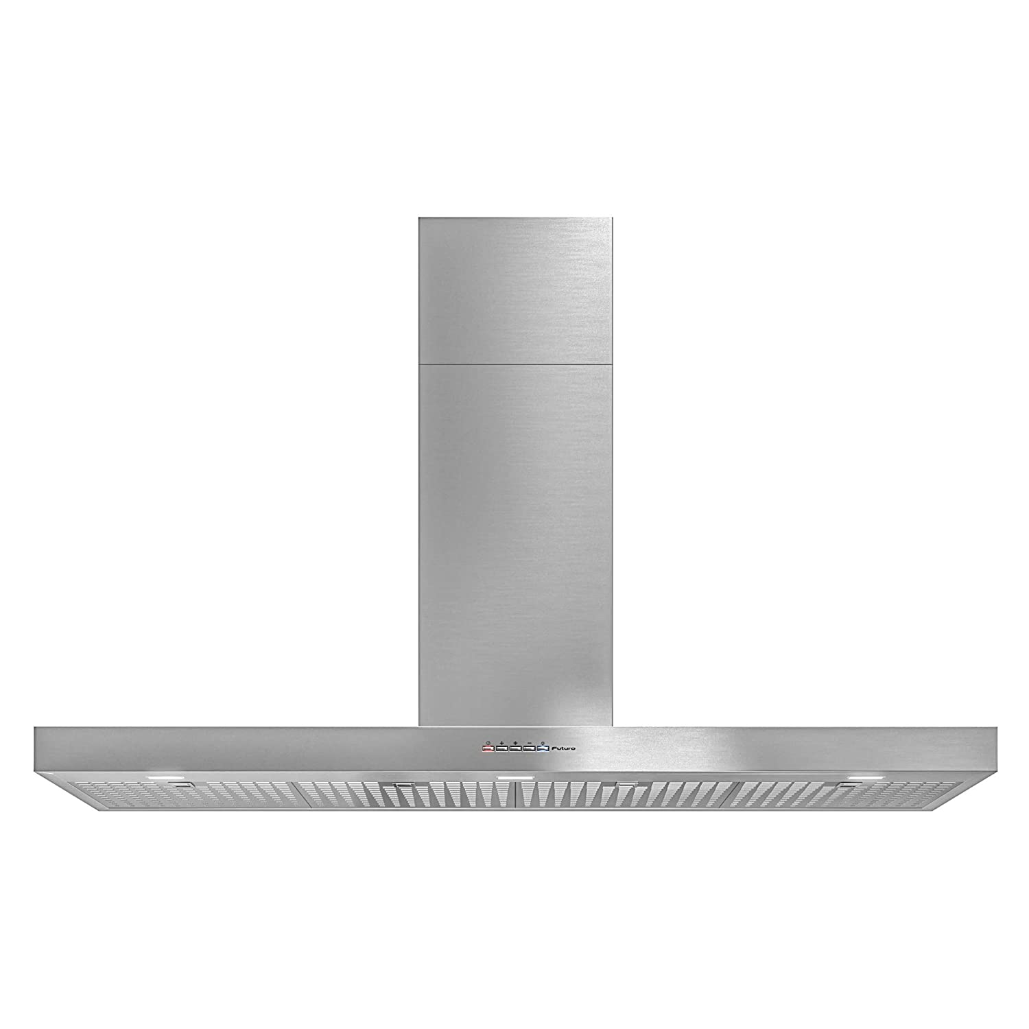 Futuro Futuro Positano 48 Inch Wall-mount Kitchen Range Hood - Modern Slim Stainless Steel Italian Design - Contemporary Range Hood LED Ultra-Quiet with Blower