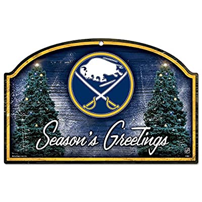 "NHL ""Season's Greetings"" Graphic Art Plaque Team: Buffalo Sabres"