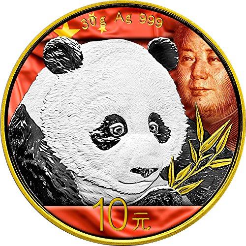 2018 CN Modern Commemorative PowerCoin MAO ZEDONG Chinese Panda Silver Coin 10 Yuan China 2018 BU Brilliant Uncirculated -