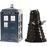 OliaDesign 352D Dr. Who TARDIS and Dalek Salt and Pepper Shaker . Flatware Serving Sets, White