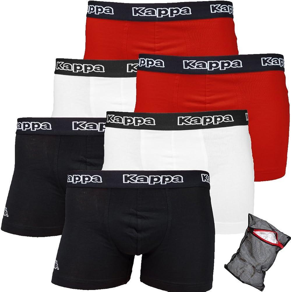 confezione da 3 Kappa Ziatec Edition Boxer da uomo taglie S-5XL 6 e 9 pezzi con pratica rete per biancheria biancheria da uomo