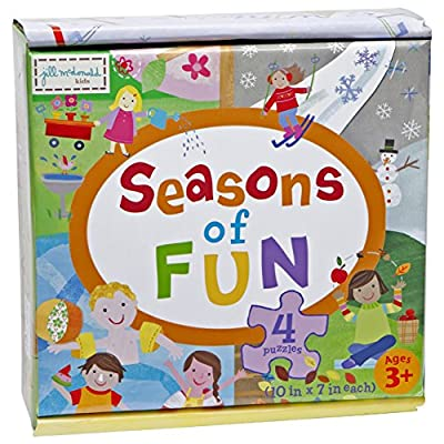 C.R. Gibson ''Seasons of Fun' Puzzle Game for Kids, 4 Puzzles, 80pc: Toys & Games