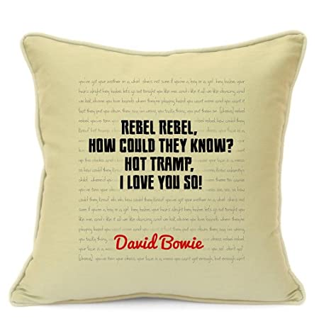 David Bowie Song Lyrics Quotes Cotton Cushion Cover For Sofa 18 Inch