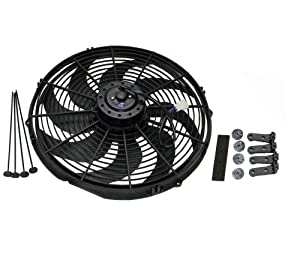 "16"" Heavy Duty Radiator Electric Fan 3000 CFM Brand New Reversible For SBC BBC 350"