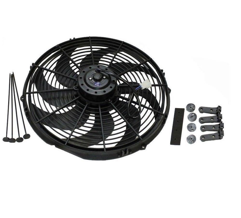 16'' Heavy Duty Radiator Electric Fan 3000 CFM Brand New Reversible For SBC BBC 350