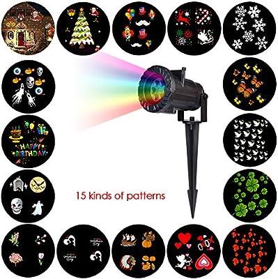 LED proyector Navidad decoración luces móviles 16 patrón ...