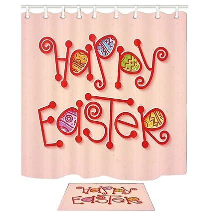 KOTOM Decoración del Día de Pascua Happy Easter Cartas ...