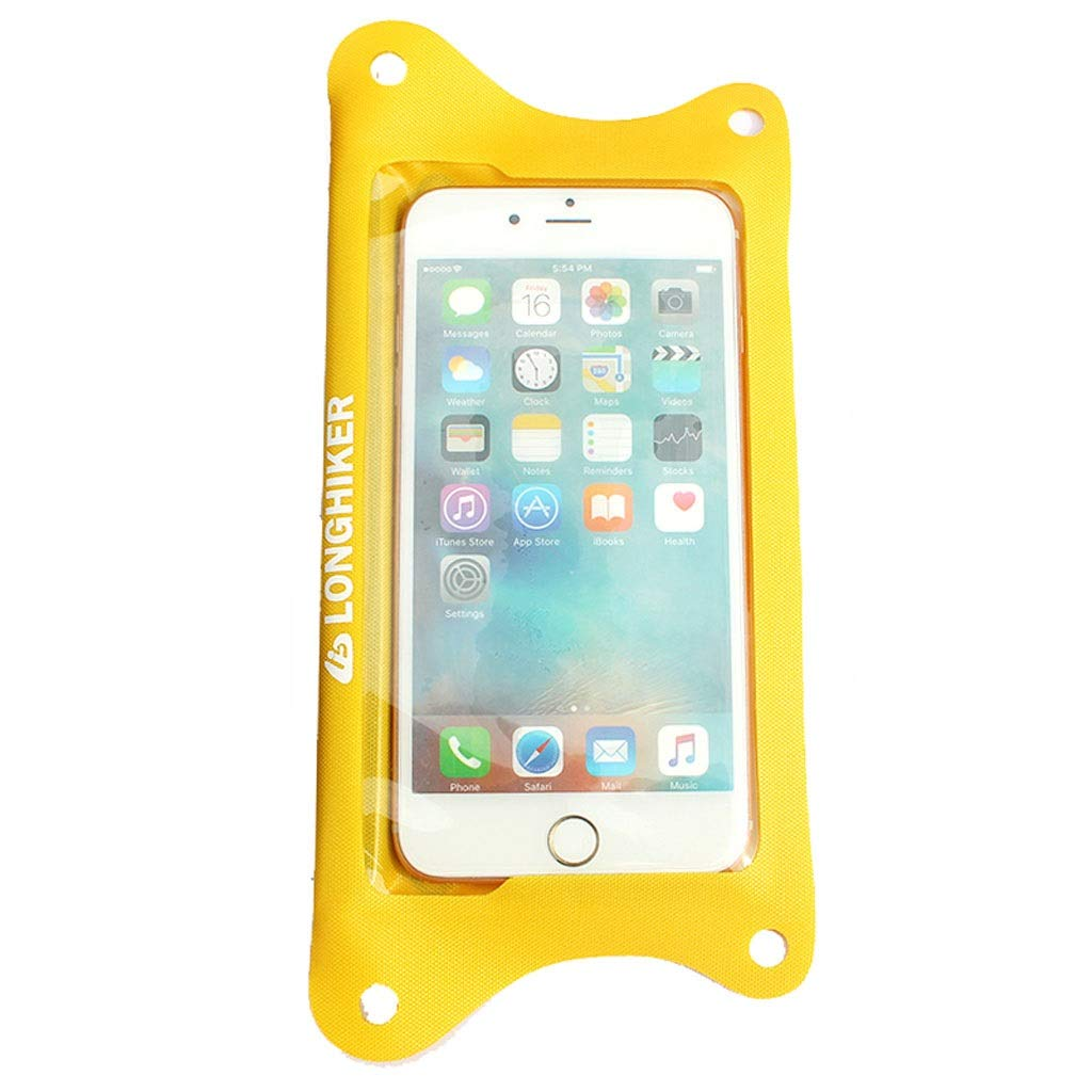 Lsslsd Mobile Phone Waterproof Bag Diving Mobile Phone Sets Touch Screen Swimming Waterproof Mobile Phone Shell Hanging Neck Dust Bag Universal Mobile Phone Bag (Color : Yellow)