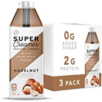 Kitu Super Creamer, SugarFree Coffee Creamer (0g Sugar, 2g Protein, 40 Calories) [Hazelnut] 25.4 Fl Oz, 3 Pack   Keto…