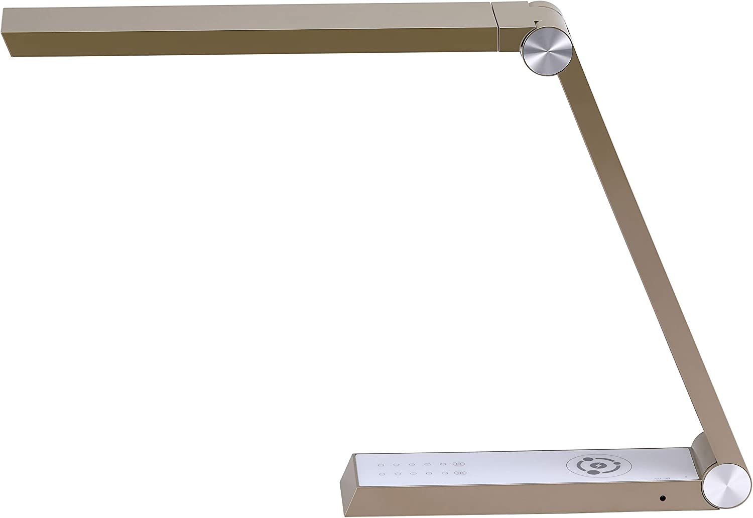 Bostitch Office Dimmable Gold Desk Lamp with Wireless Charging, USB Ports, Adjustable Brightness, Triangle Shape (VLED1825GOLD-BOS)