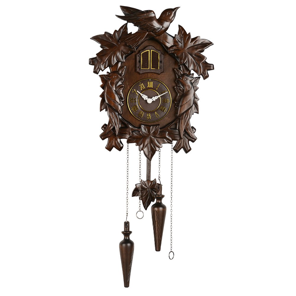 Hense Clocks(ハンセ)クォーツカッコー時計 掛け時計 振り子時計 報時付 消音 鳩時計 HP18-B B06XY6BVLJHP18-B