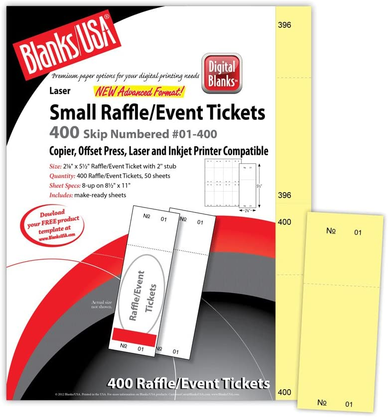 Digital Raffle//Event Tickets Green 400 Pack