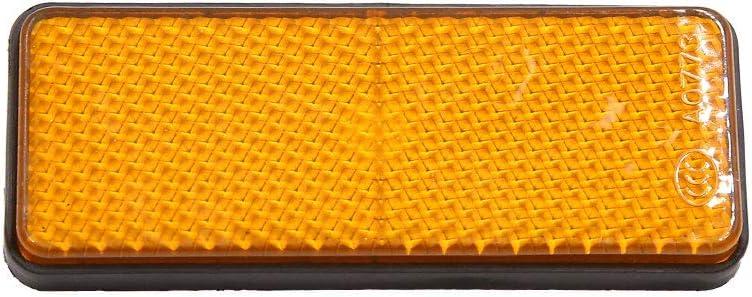 14pcs Orange Plastic Screw Mount Reflective Warning Reflector for Motorcycle