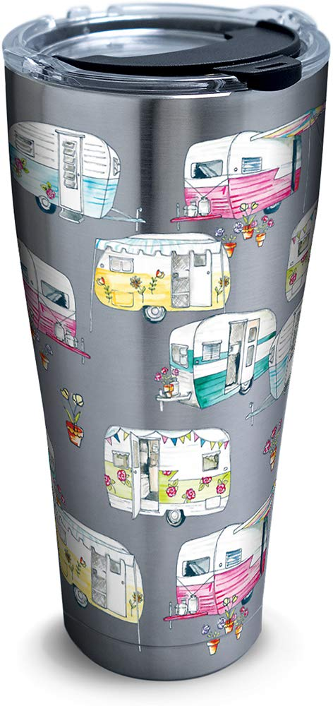 Tervis 1322110 Colorful Camper Insulated Tumbler with Wrap and Lid Clear 16 oz Mug